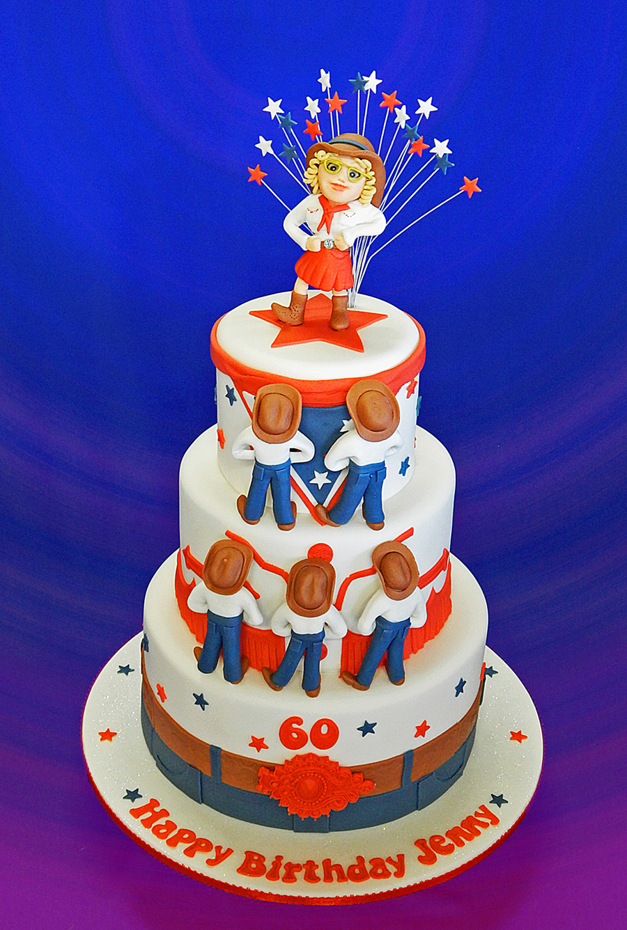 Peachy Jennys Line Dancing Birthday Cake Cakecentral Com Personalised Birthday Cards Cominlily Jamesorg