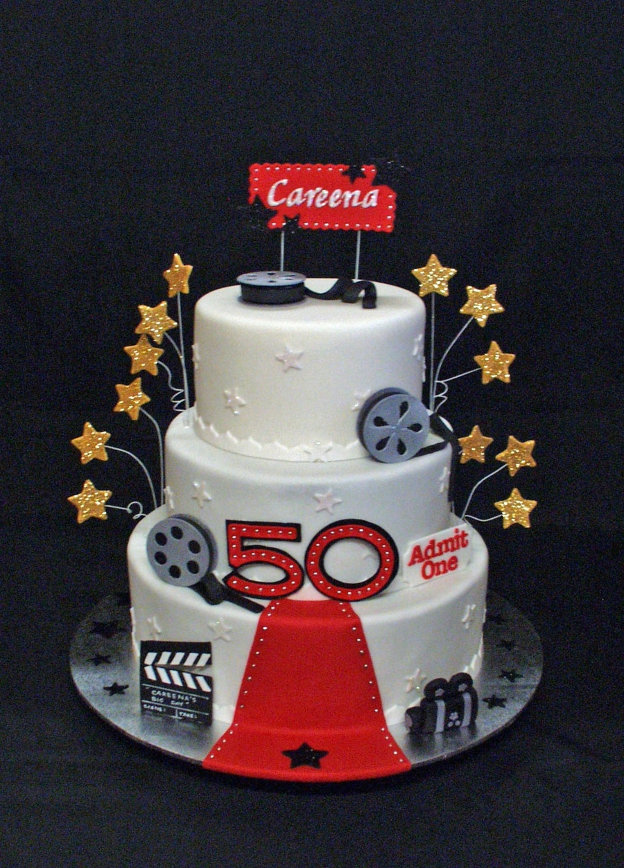 Hollywood Themed 50th Birthday Cake Cakecentral