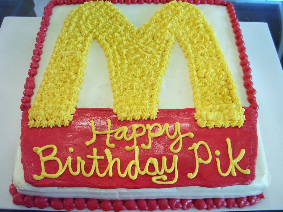 Mcdonald S Themed Birthday Cake Cakecentral Com