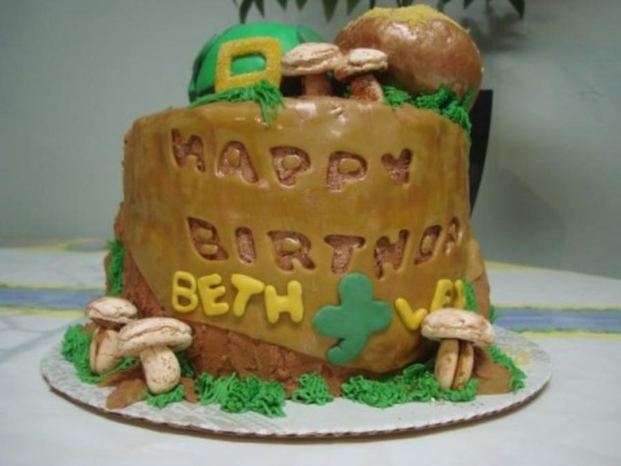 Outstanding Luck Of The Irish Birthday Cake Cakecentral Com Personalised Birthday Cards Veneteletsinfo