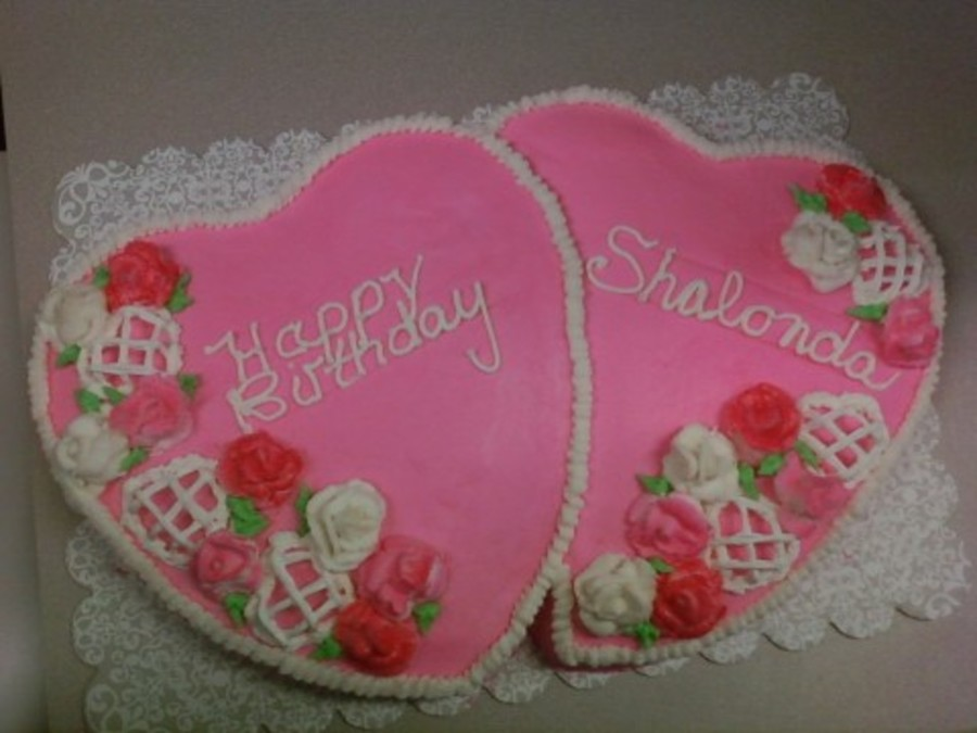 Phenomenal February Valentine Birthday Cake Cakecentral Com Funny Birthday Cards Online Fluifree Goldxyz