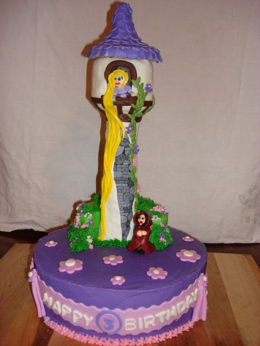 Rapunzel Tower Cake Decorations