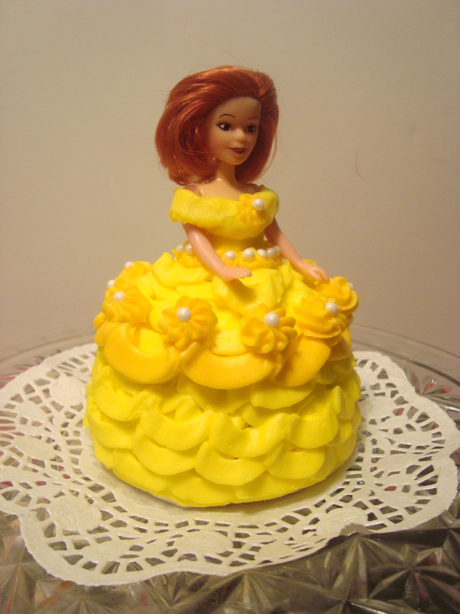 Belle From Beauty And The Beast Mini Doll Cake CakeCentralcom