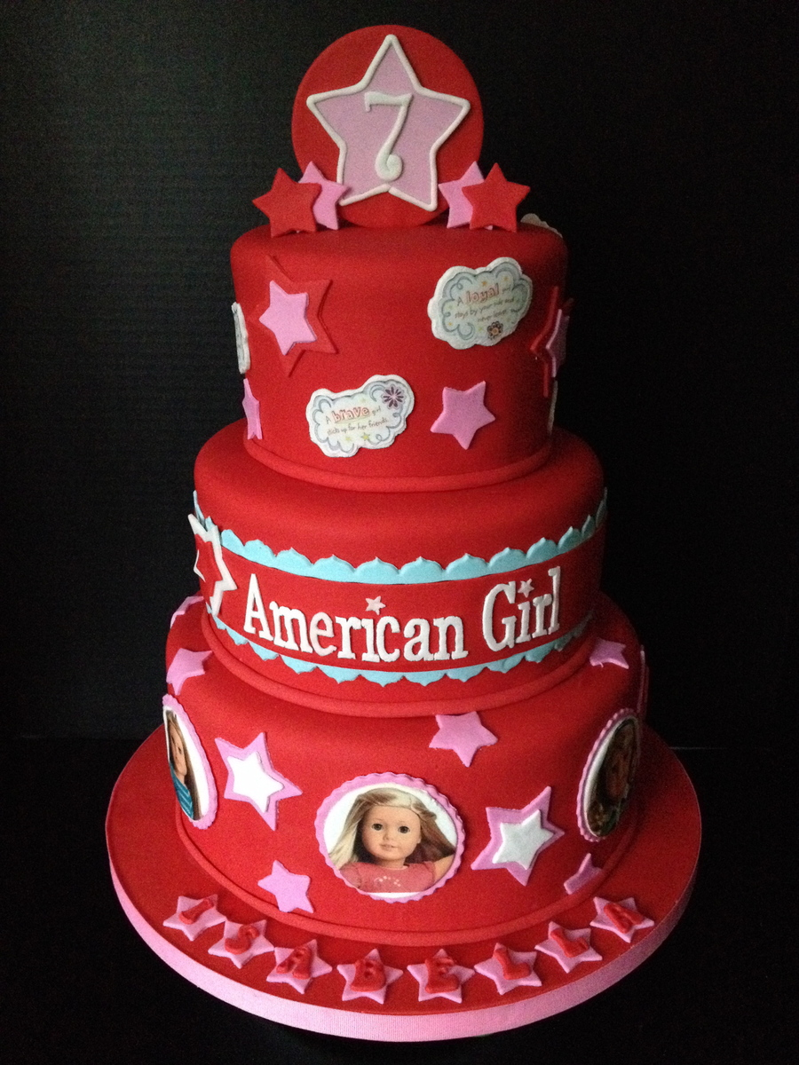 Cake Decoration Doll : American Girl Doll Cake All Fondant With Edible Images ...