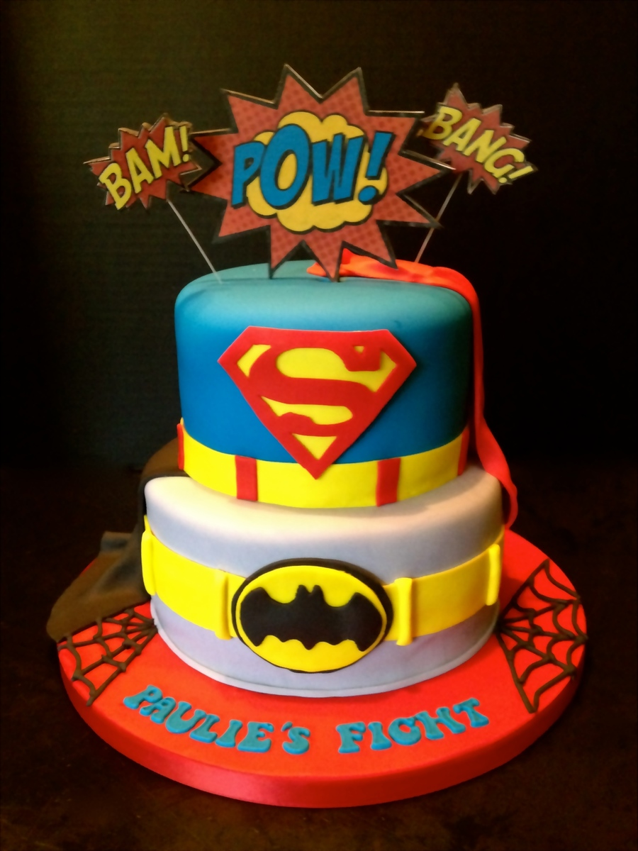 A Superhero Cake For A 2 Year Old Superhero Lt3 I Was ...