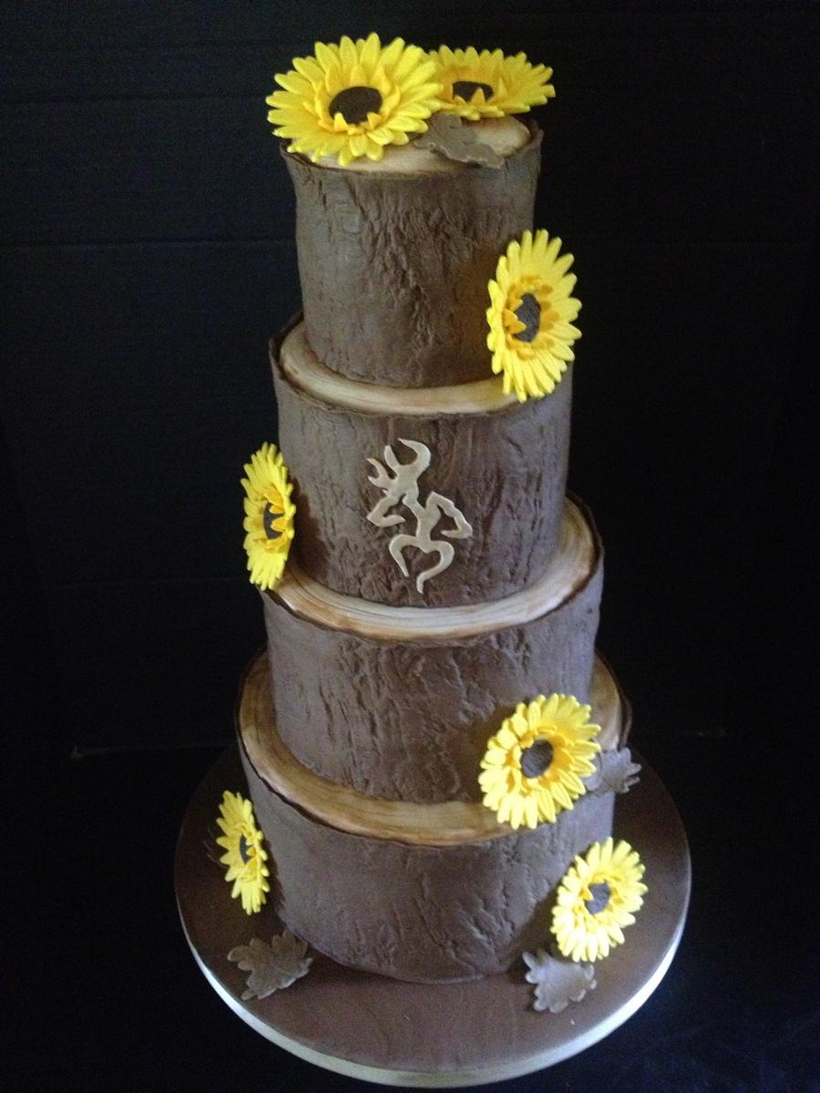 Tree Stump Wedding Cake - CakeCentral.com