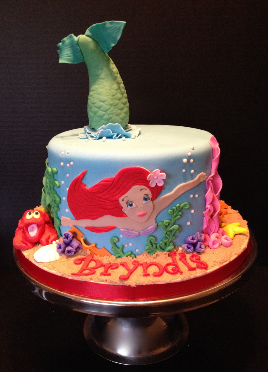 My Version Of A Little Mermaid Cake I Have Seen All Over On Central