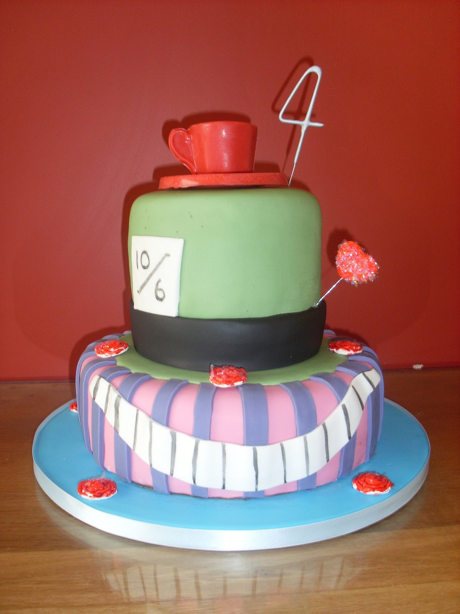 Alice In Wonderland Theme on Cake Central