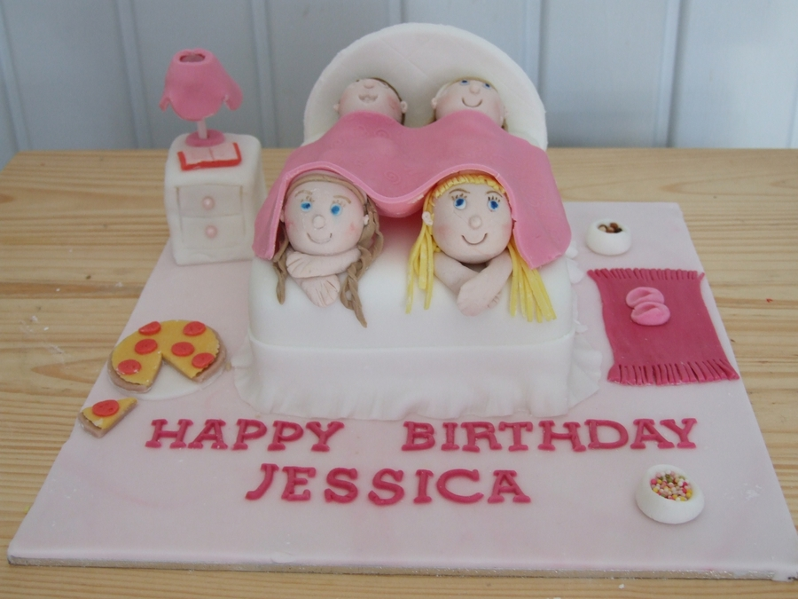 Remarkable Sleepover Birthday Cake Cakecentral Com Funny Birthday Cards Online Inifodamsfinfo