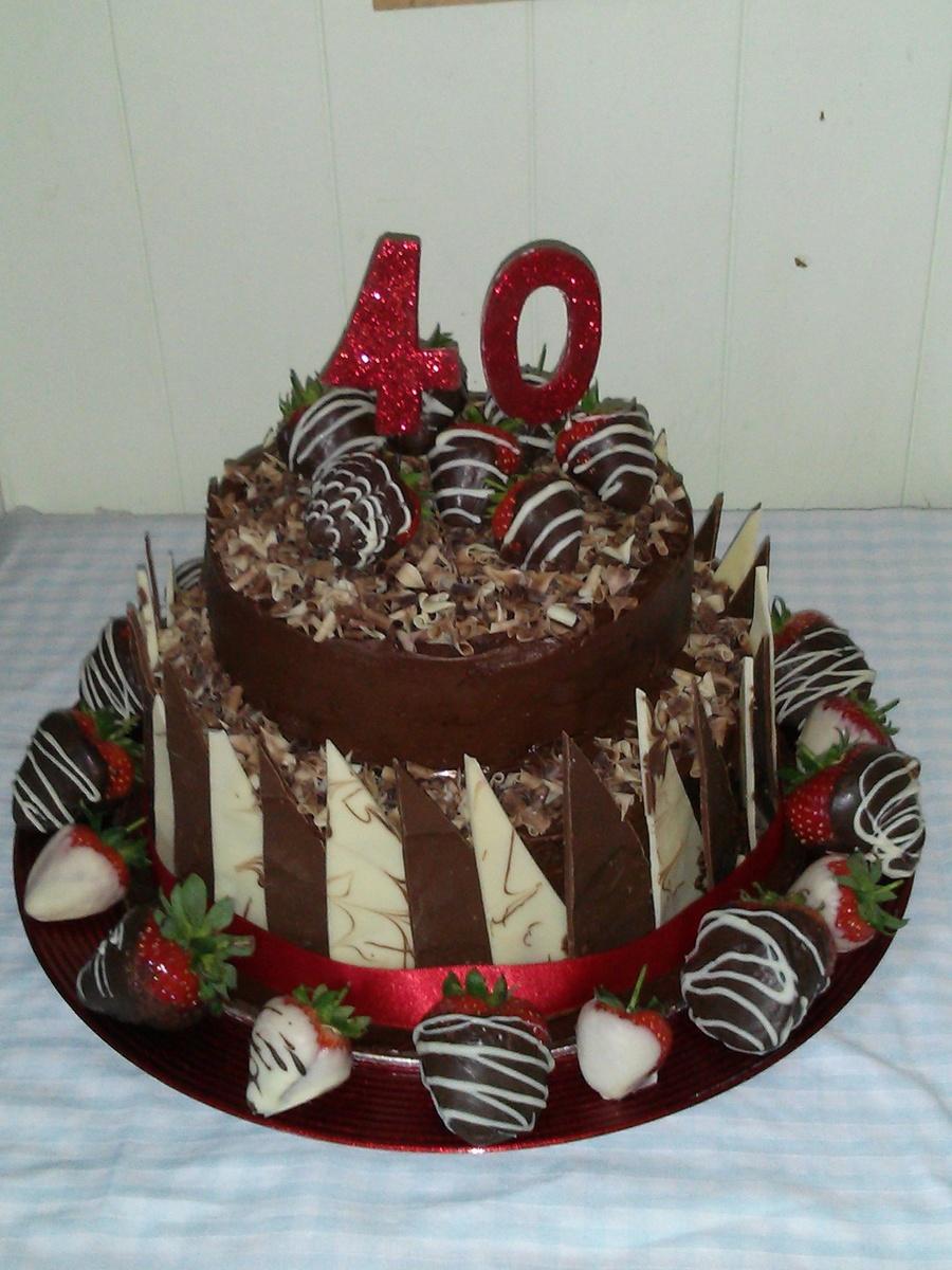Chocolate Shard 40th Birthday Cake Cakecentral Com