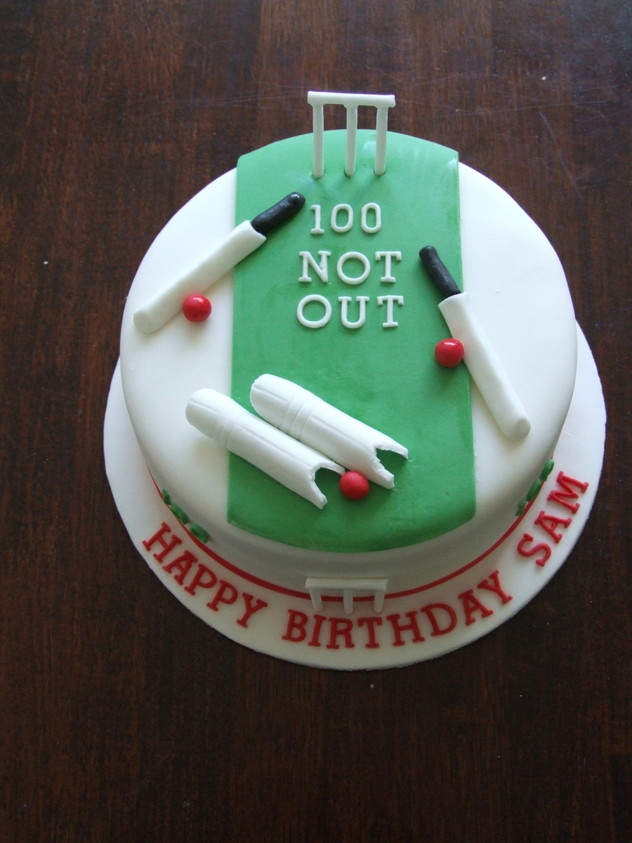 Cricket Birthday Cake Images : 100Th Birthday Cricket Cake - CakeCentral.com