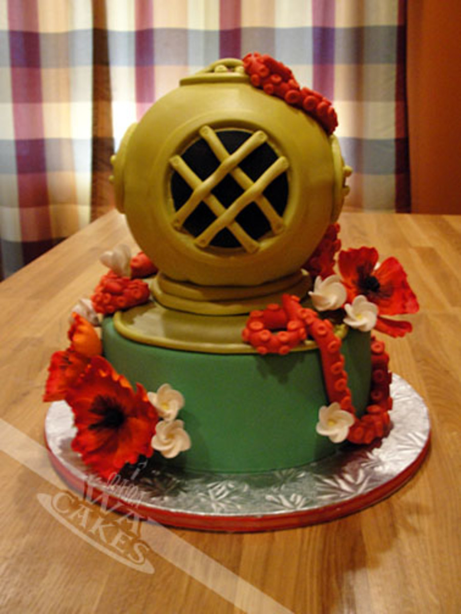 Mark V Deep Sea Diver Helmet Wedding Cake Cakecentral Com