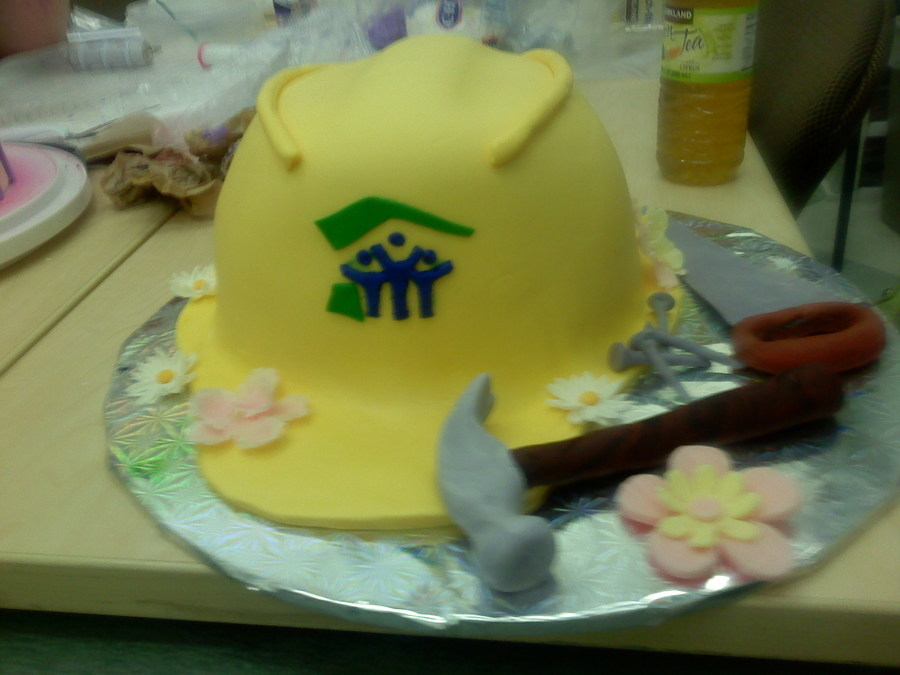 Hard Hat Habitat For Humanity Cake