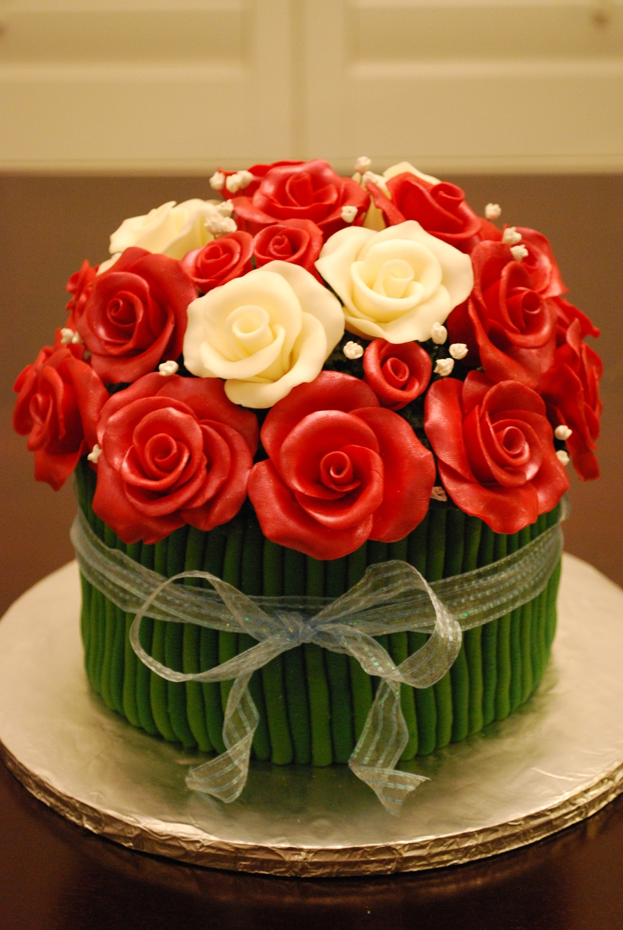 Rose Bouquet on Cake Central