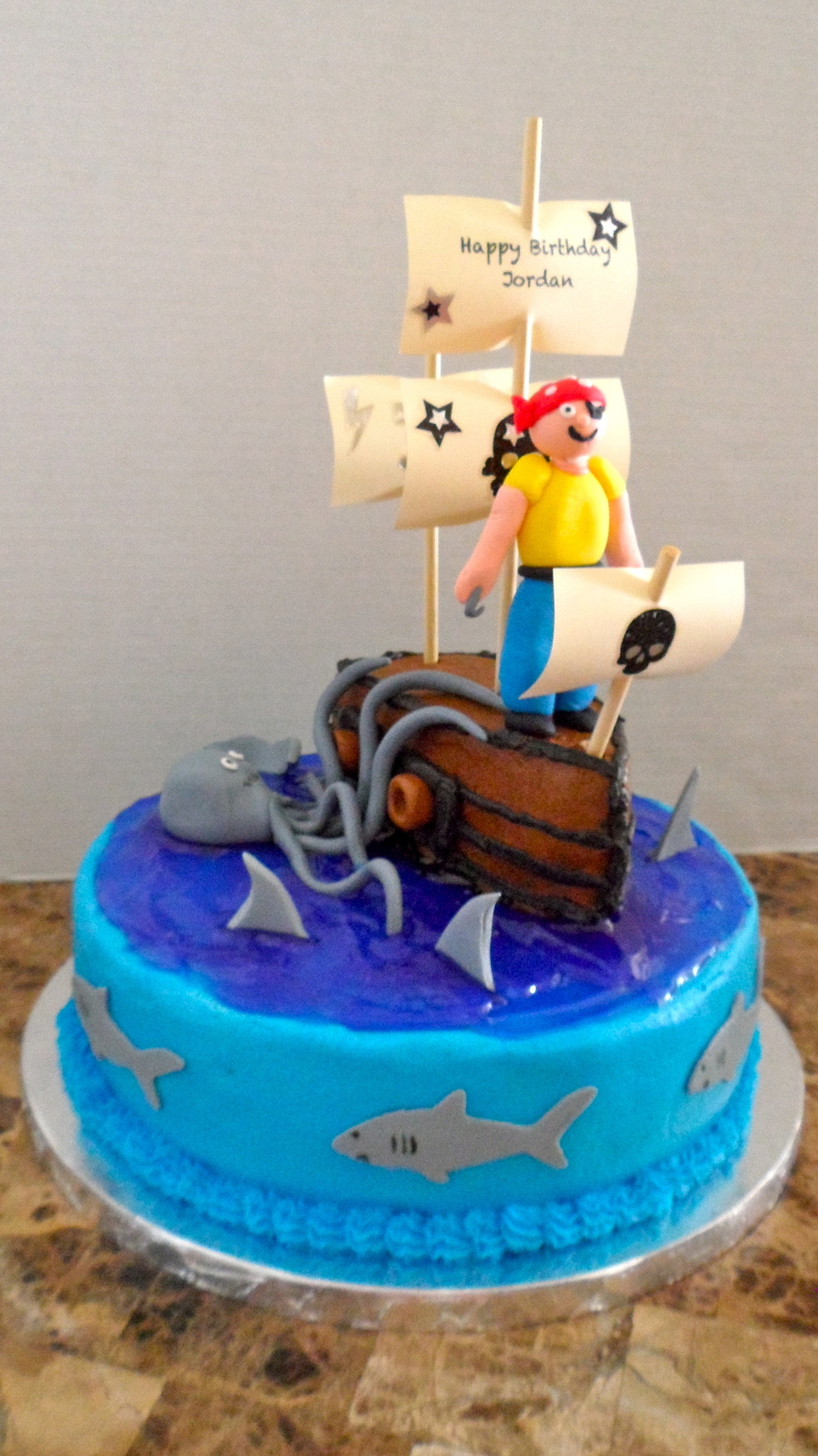 Pirates Ship Birthday Cake CakeCentralcom