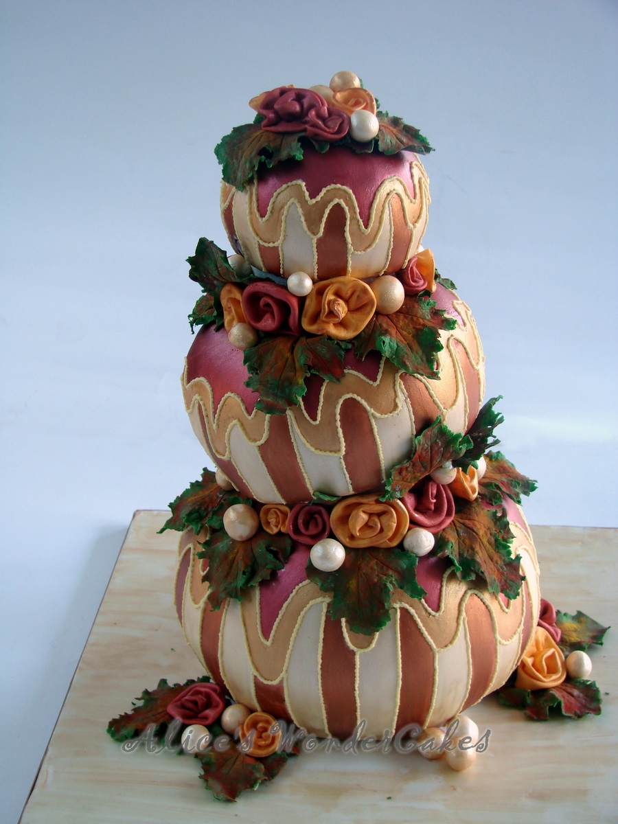 Colette Cake In Autumn Style - CakeCentral.com