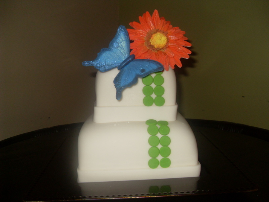 Butterfly & Daisy on Cake Central