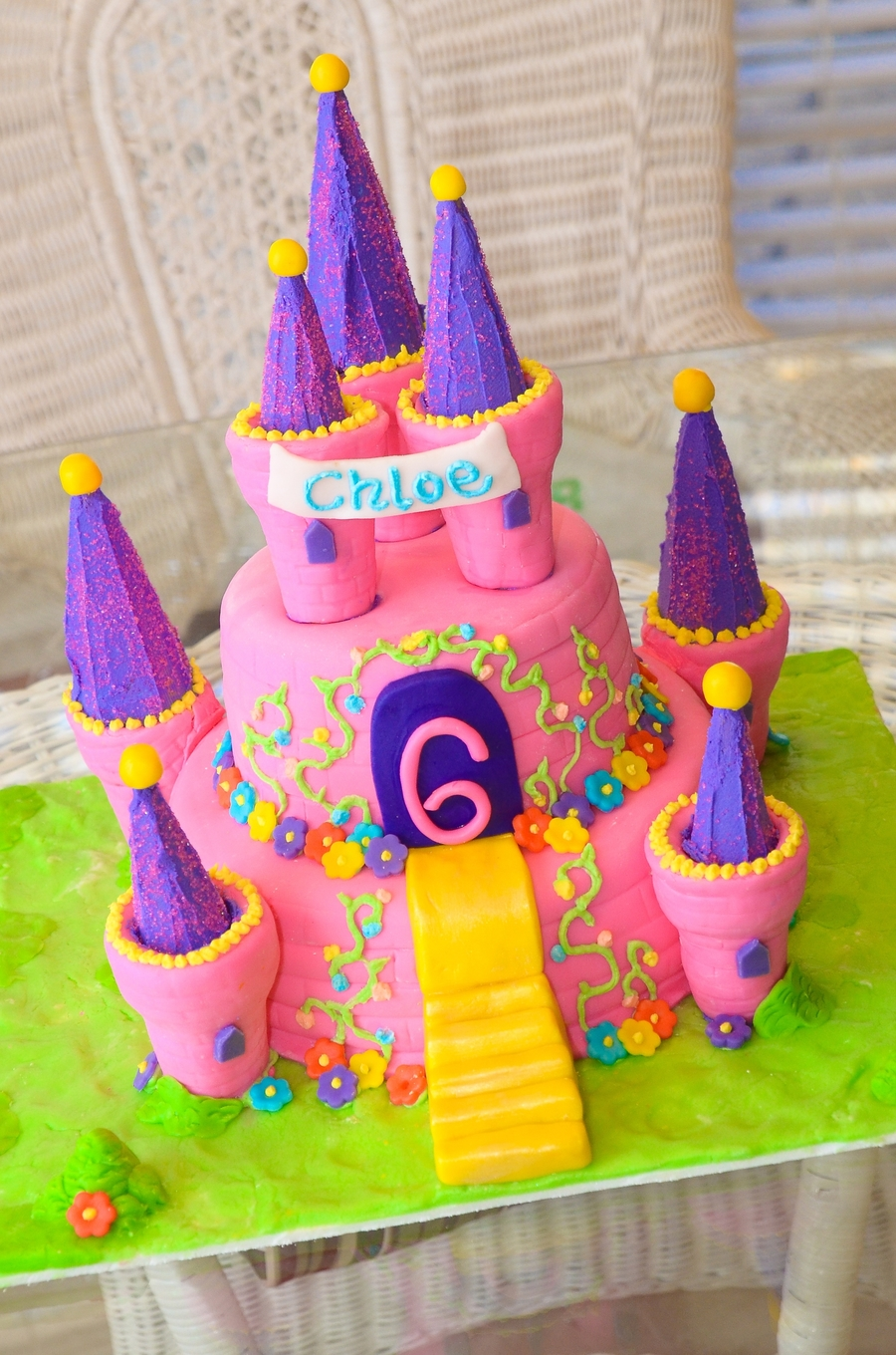 Cool Princess Castle Birthday Cake Cakecentral Com Funny Birthday Cards Online Elaedamsfinfo