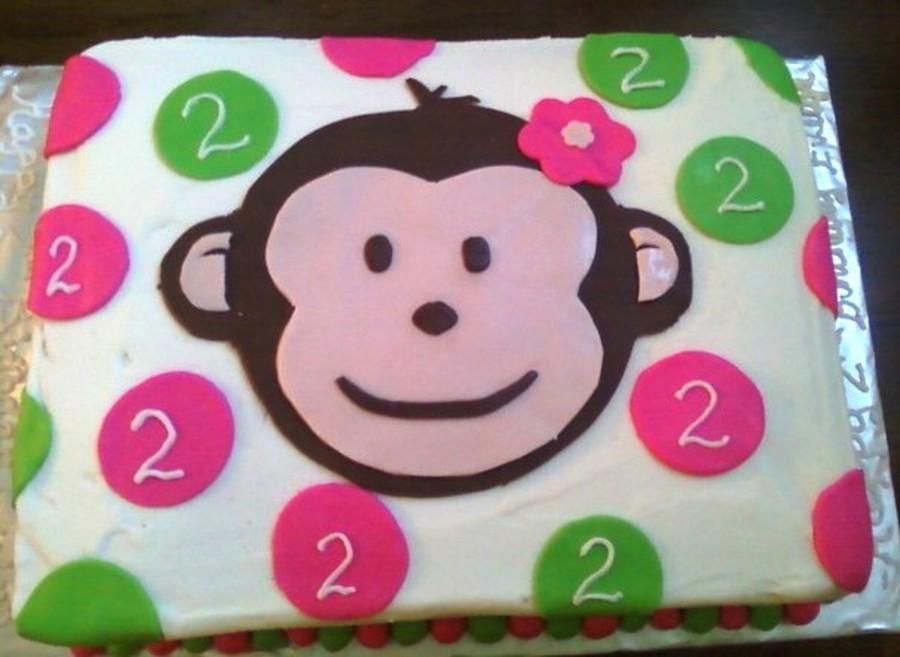 Pink Mod Monkey Cakecentral Com