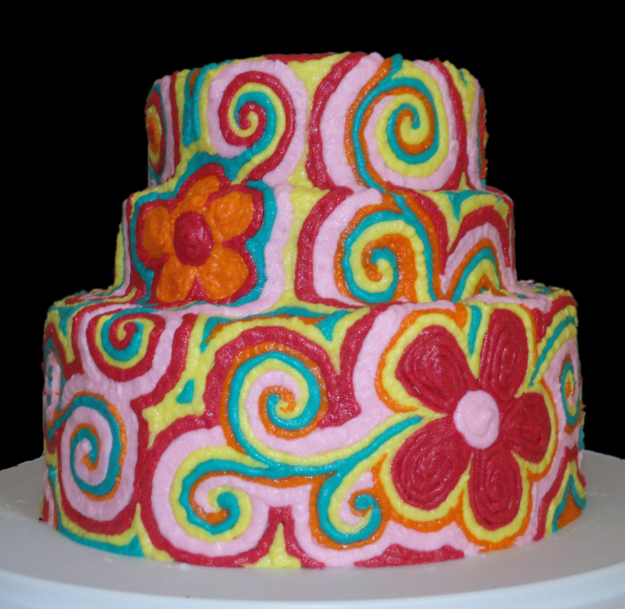 Psychedelic Flowers Cakecentral Com