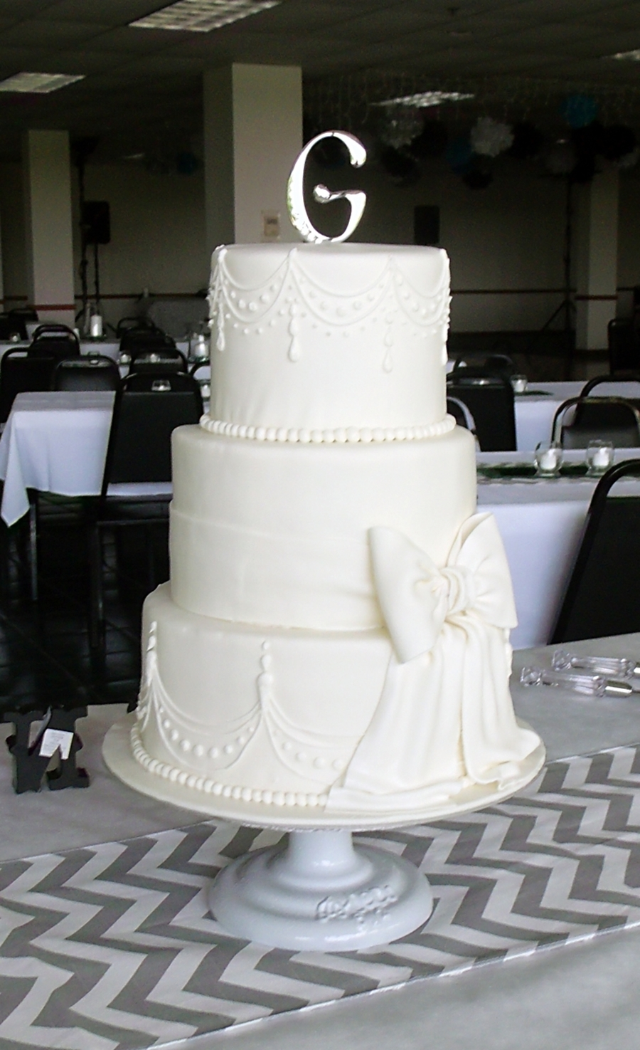 Colleen's All-White Wedding Cake on Cake Central