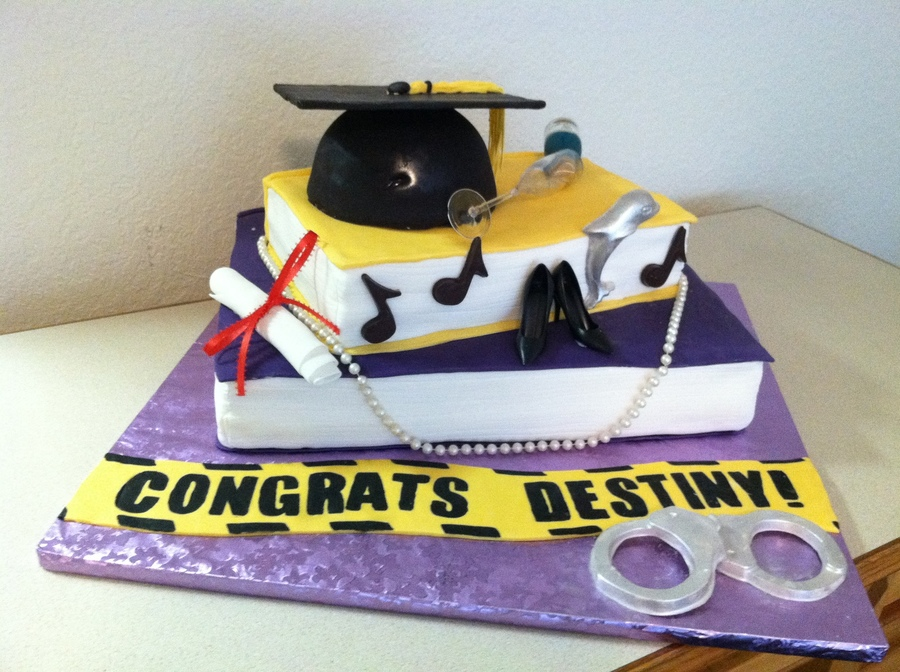 Criminal Justice Major Graduation Cake Cakecentral Com