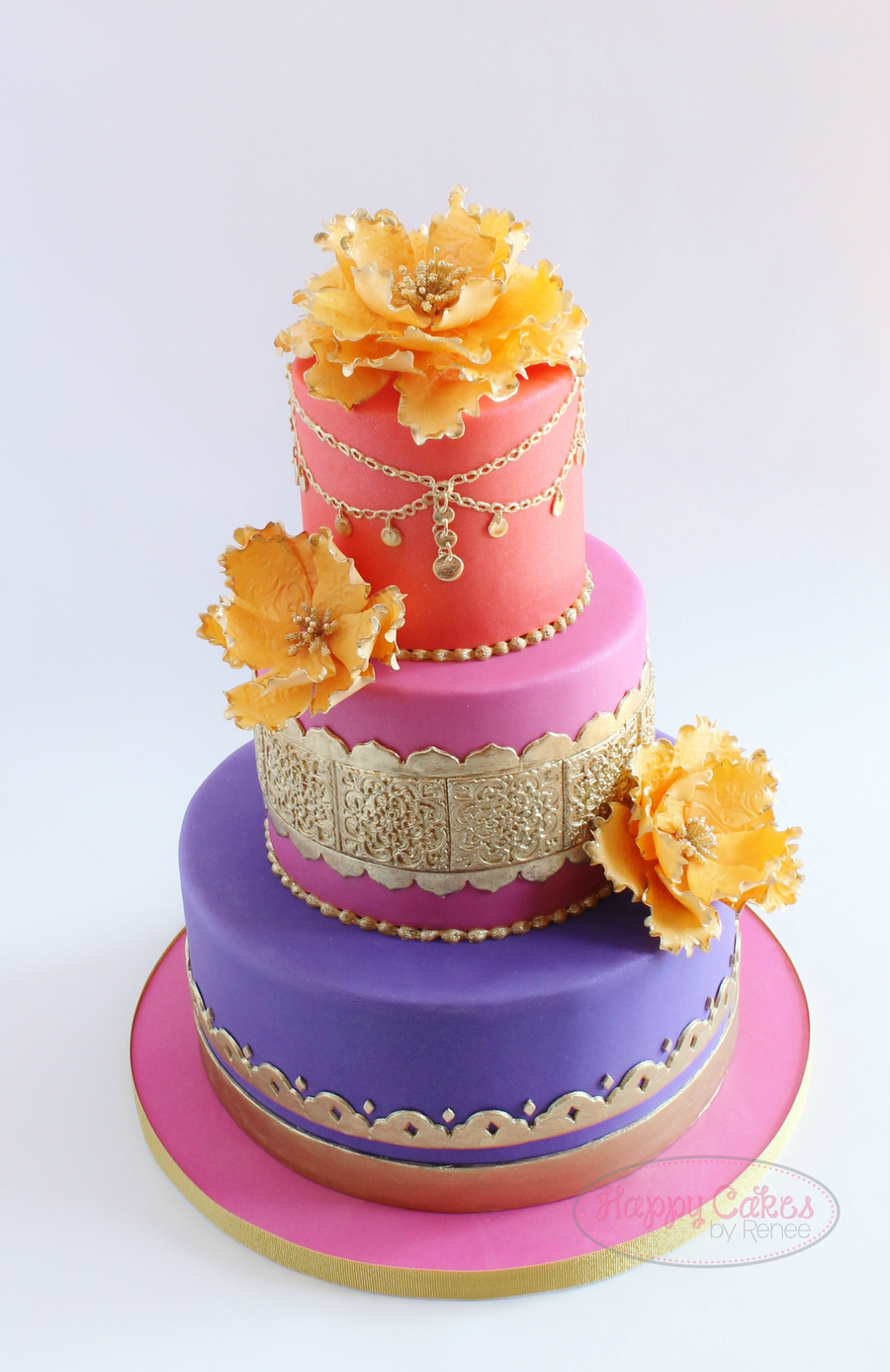 moroccan themed baby shower cake