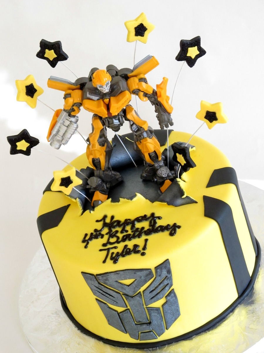 Transformers Bumblebee Cake - CakeCentral.com