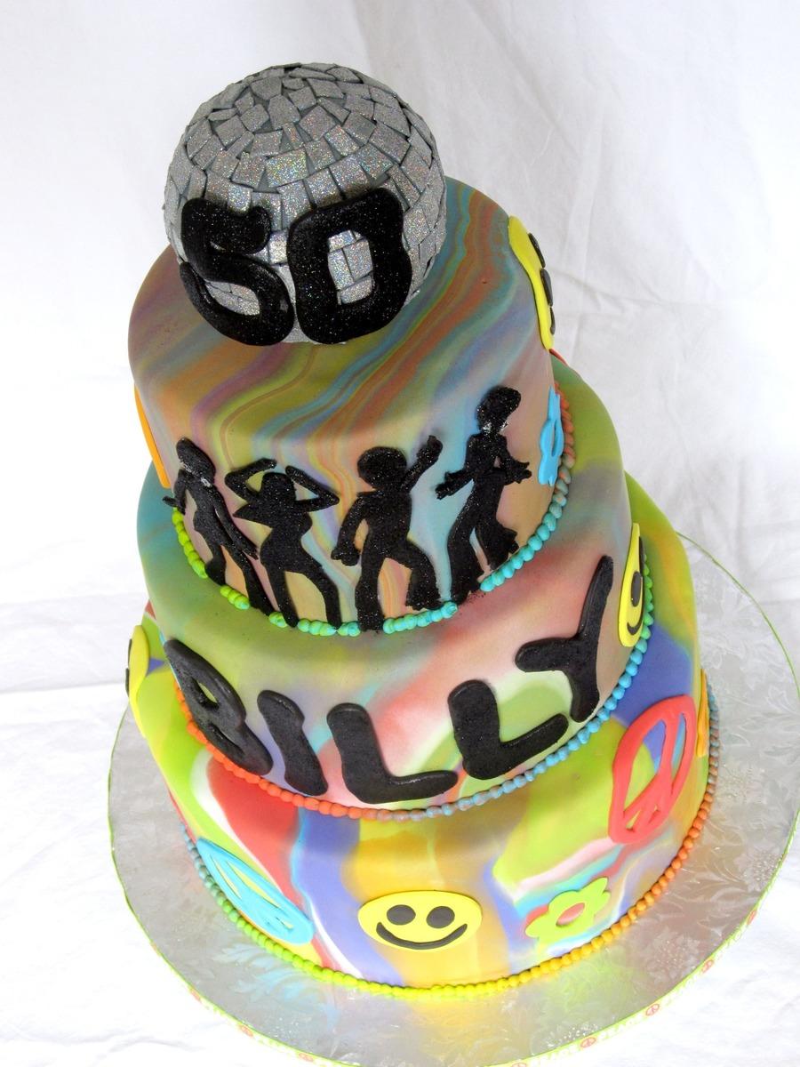70 S Disco Birthday Cake Cakecentral Com