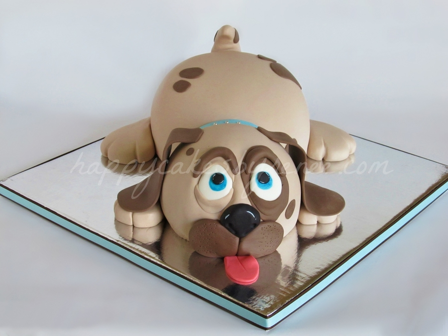 Dog Shaped Cake Easy