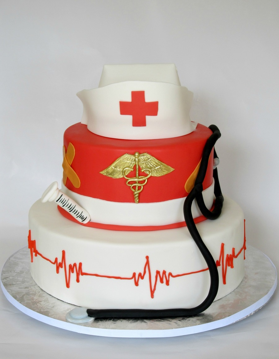 Cake Decorations For Nurses : Nursing Grad Cake - CakeCentral.com