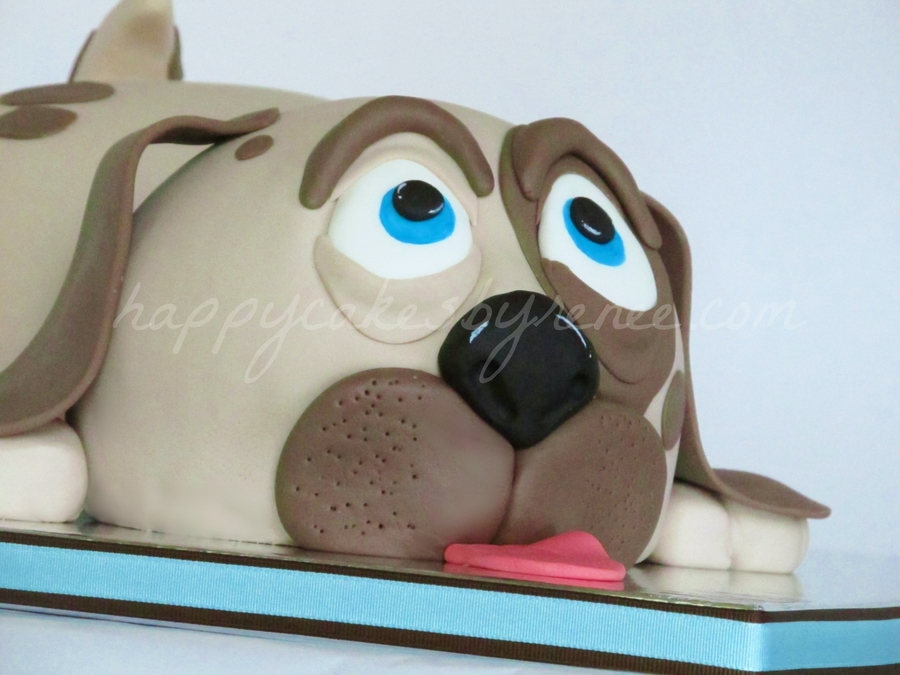 how to make a dog face cake