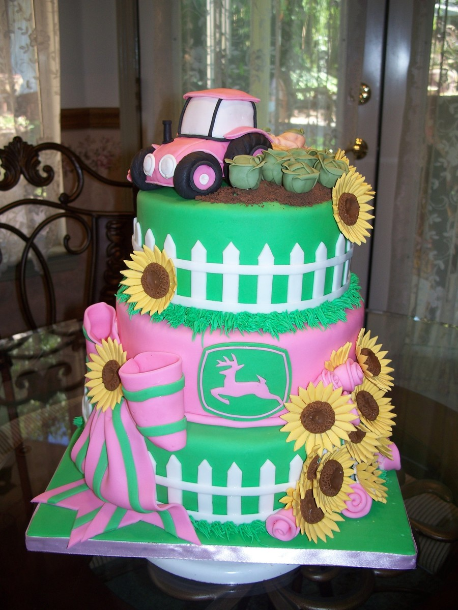 Pink Tractor Cakecentral Com