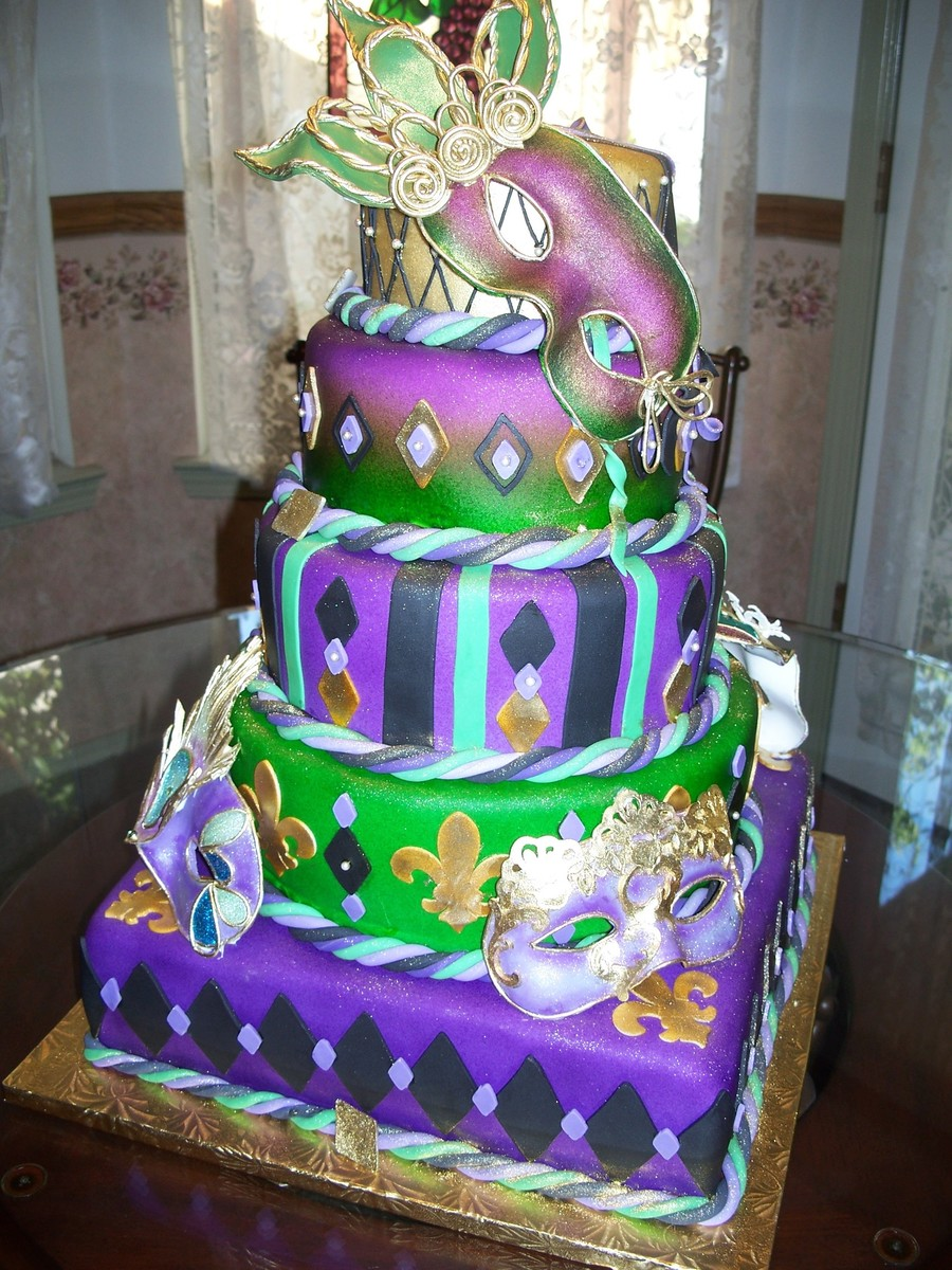 15Th Birthday Mardi Gras Quinceanera Cake - CakeCentral.com