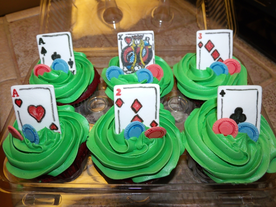 Poker Cupcakes on Cake Central