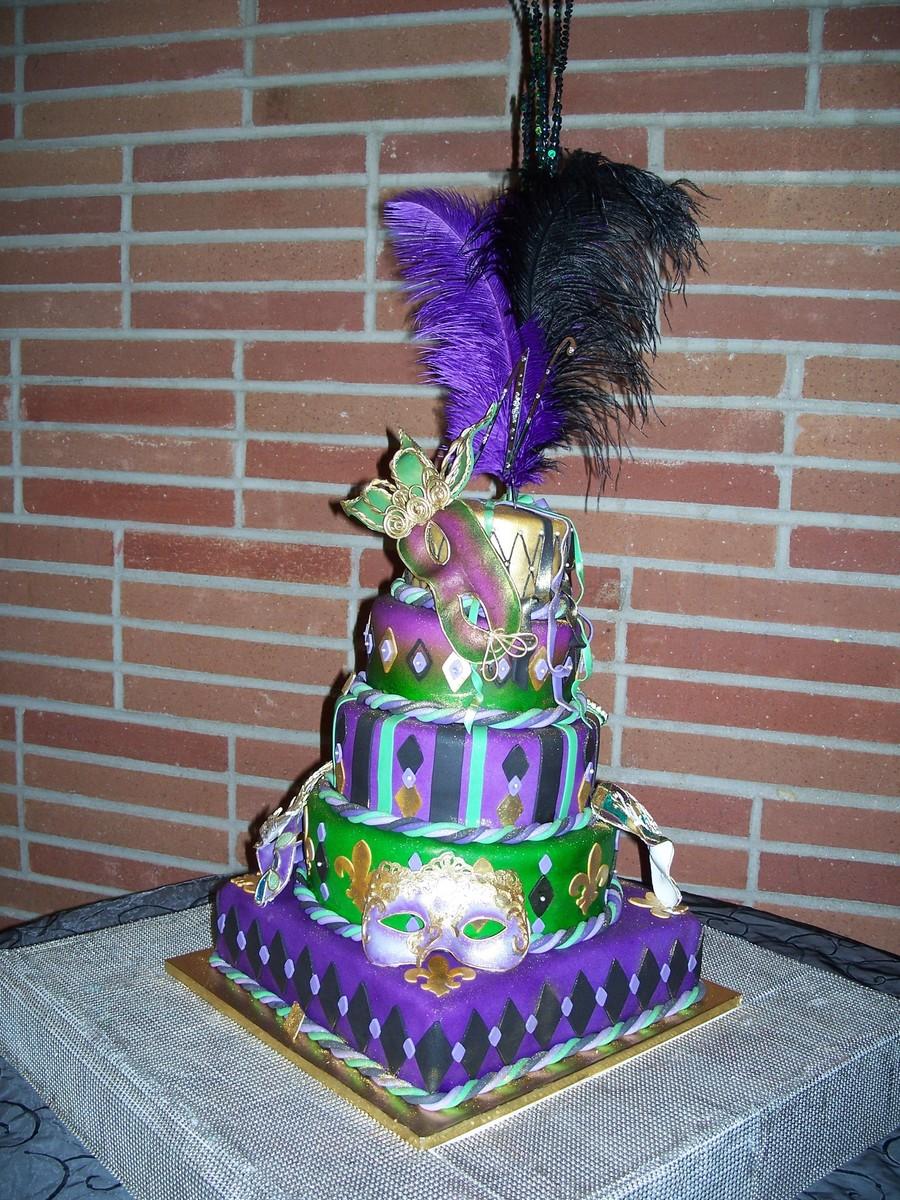 15th Birthday Mardi Gras Quinceanera Cake Cakecentral Com