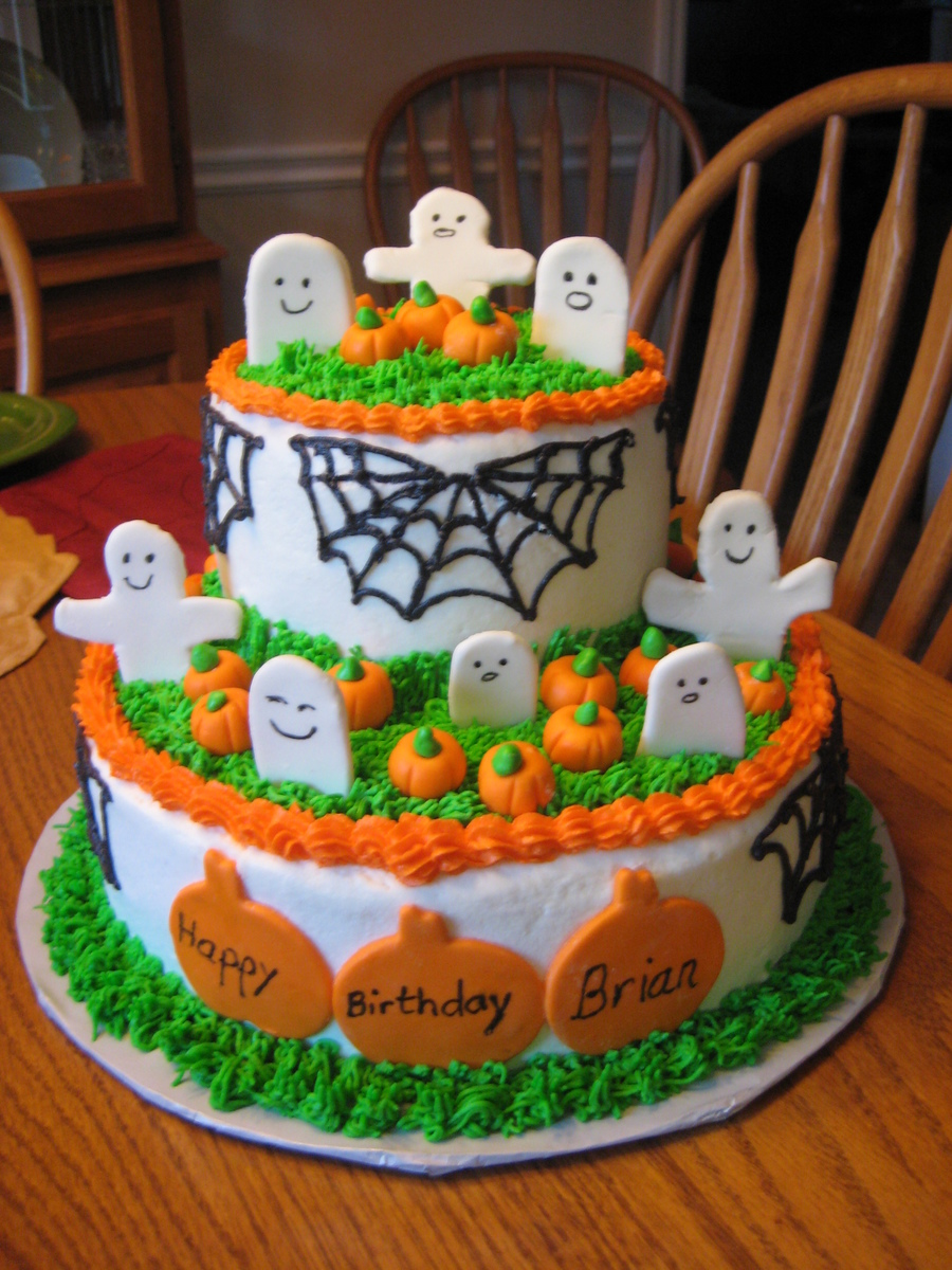 Surprising Halloween Themed Birthday Cake Cakecentral Com Funny Birthday Cards Online Aeocydamsfinfo
