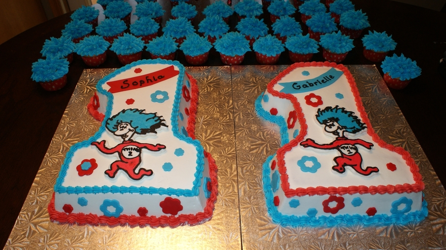 Thing 1 And Thing 2 Birthday Cakecentral