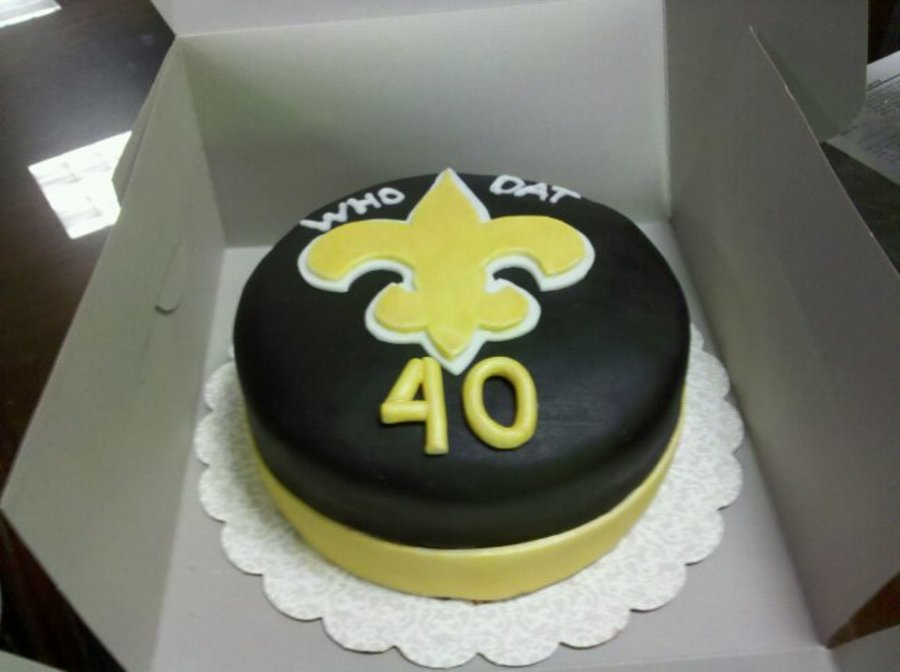 40Th Birthday - Saints Themed on Cake Central