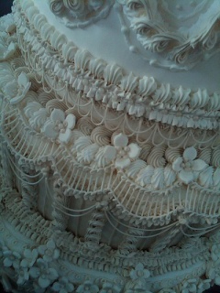 Overpiping Cake Decorating