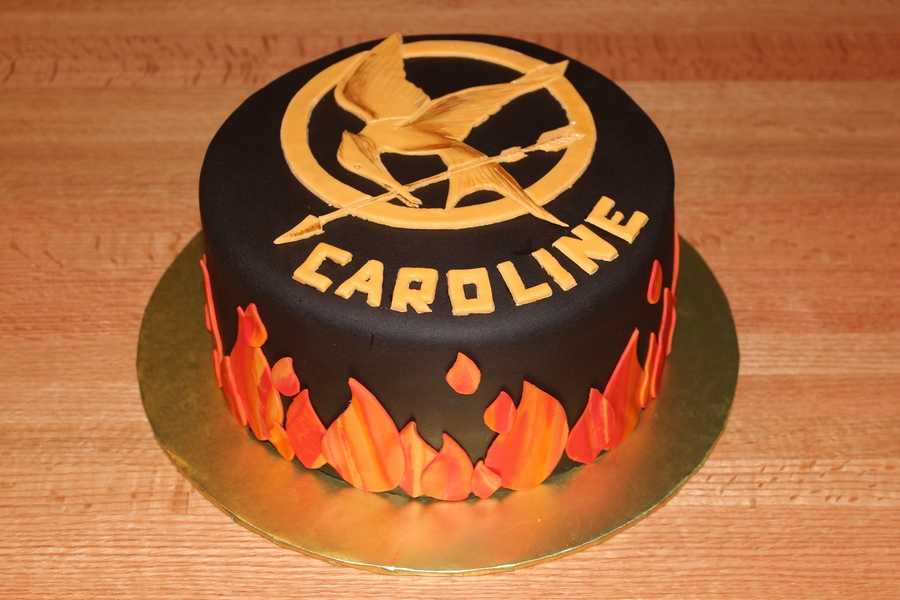 Awesome Hunger Games Cake Cakecentral Com Funny Birthday Cards Online Elaedamsfinfo