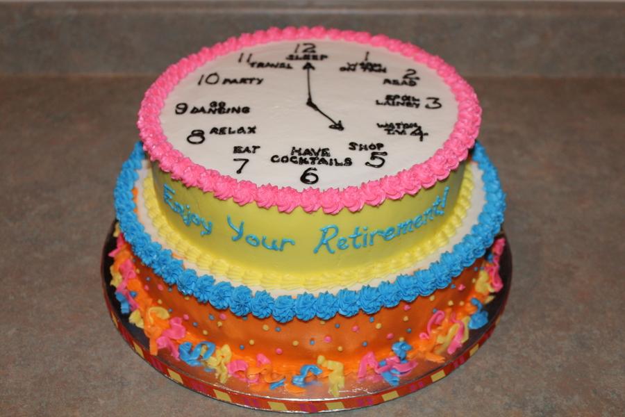 Clock Retirement Cake - CakeCentral.com
