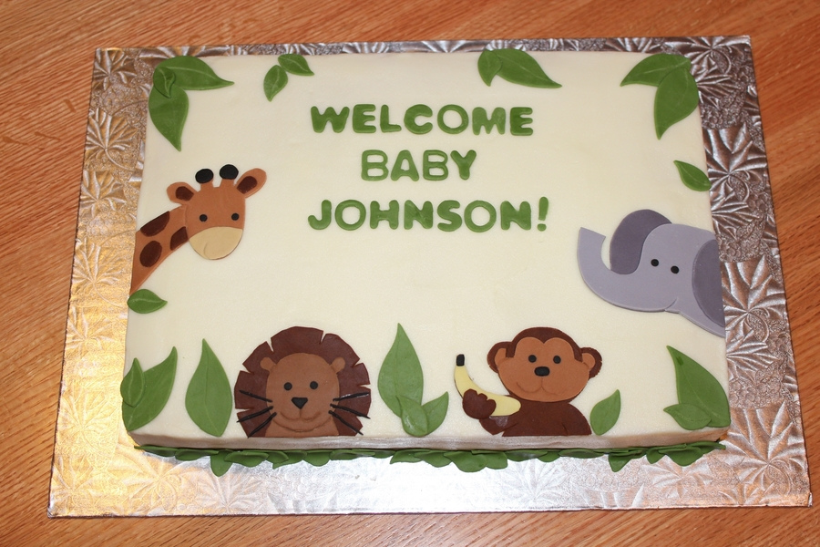 Jungle Baby Shower Cake on Cake Central
