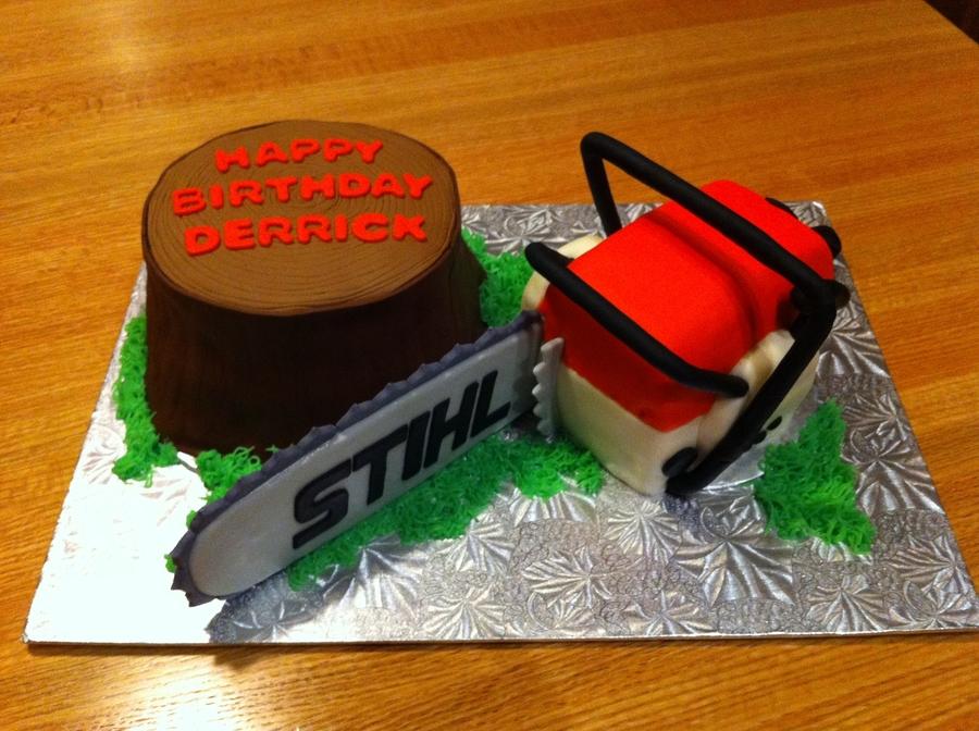 Chainsaw Cake Cakecentral Com