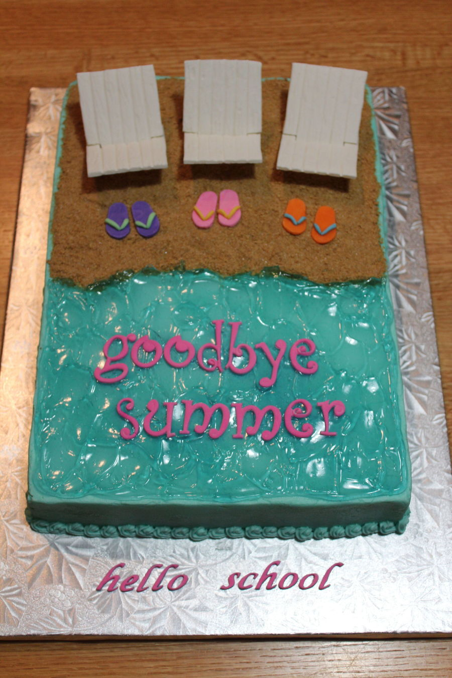 End Of Summer/back To School Cake on Cake Central
