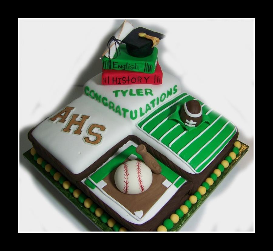 Sports Graduation Cake CakeCentralcom