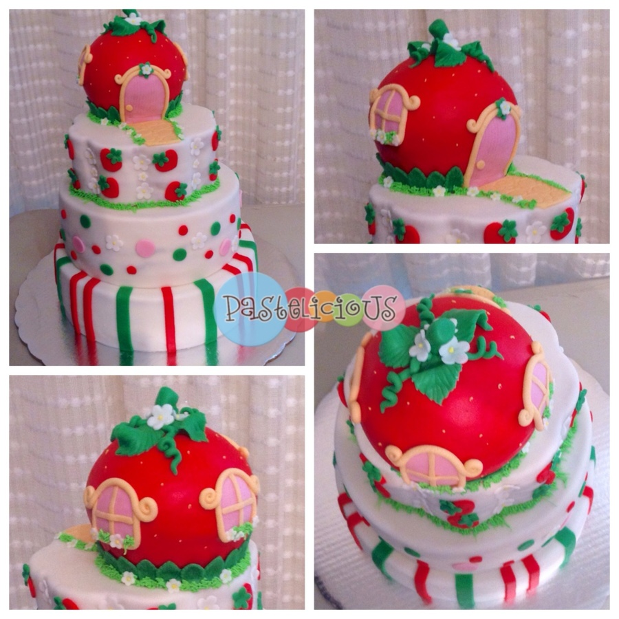 Strawberry Fields Cake. on Cake Central