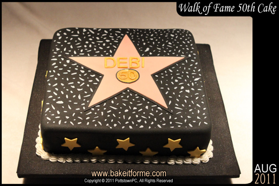 Hollywood Walk Of Fame Birthday Cakes