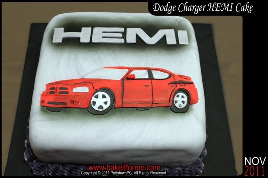 Dodge Charger Hemi Fondant Cake Cakecentral Com
