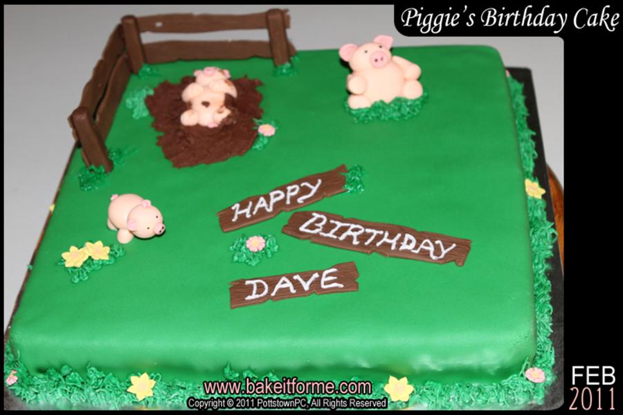 Astounding Little Piggy Birthday Cake Cakecentral Com Funny Birthday Cards Online Necthendildamsfinfo